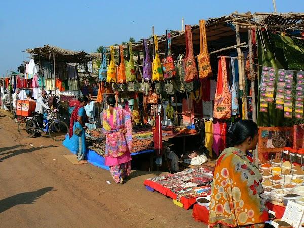Imagini India Goa: traisti la Anjuna Market
