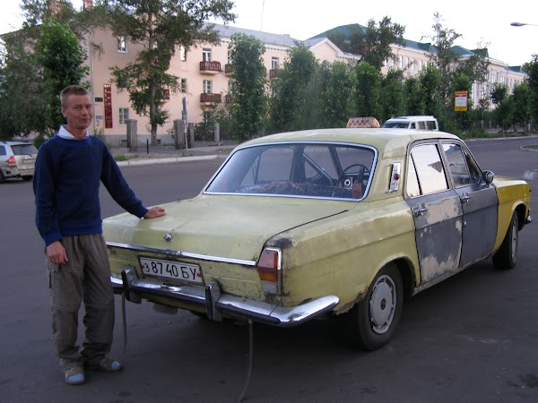 Imagini Rusia: taxi din Ulan Ude