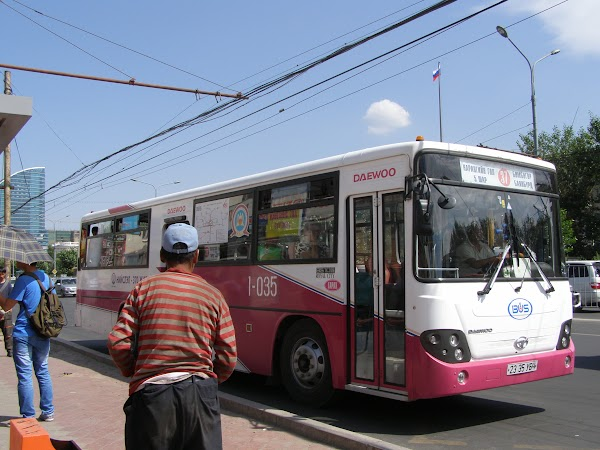 Imagini Mongolia: autobuz in Ulaan Bataar