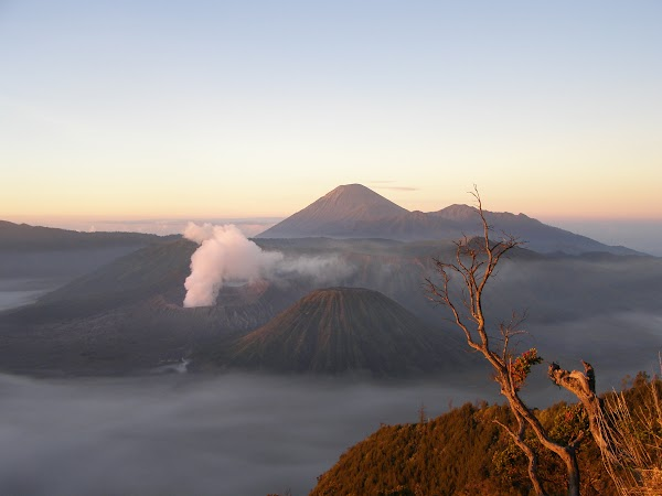 Imagini Indonezia: eruptia vulcanului Bromo