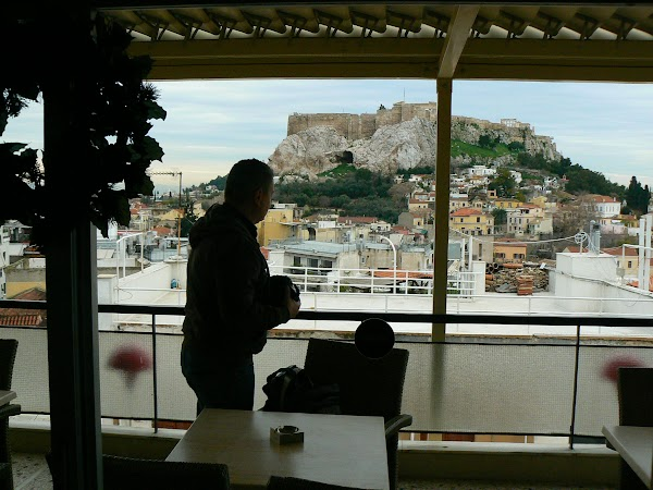 Imagini Grecia: din restaurantul hotel Adonis Atena