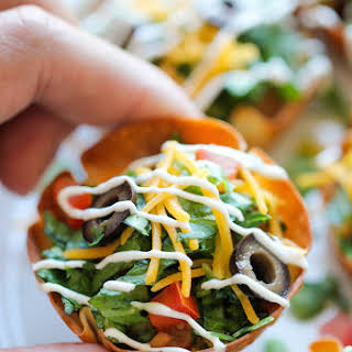 Mini Taco Salad Cups.