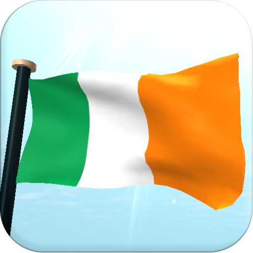 Ireland Flag 3D Free Wallpaper