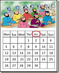 jumuah calendar