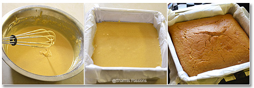 Eggless Custard Powder Snack Cake Step3
