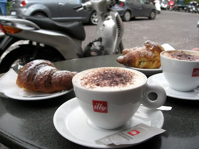 Croissants and coffees in Sorrento Italy
