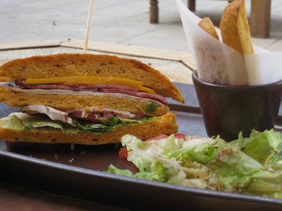 Sandwich at the Evason Ma'in hotel in Jordan