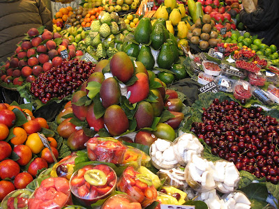 Fruit at the Mercat de la Boqueria in Barcelona