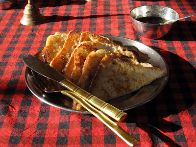 French toast for breakfast in Jaisalmer