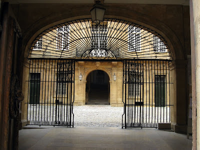 Gated courtyard in Aix en Provence France