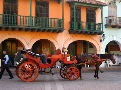 Horse and carriage ride in Cartagena, Colombia