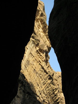The Siq in Petra in the morning