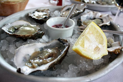 Plate of Oysters at the Whitstable Oyster Fishery Restaurant in Kent England