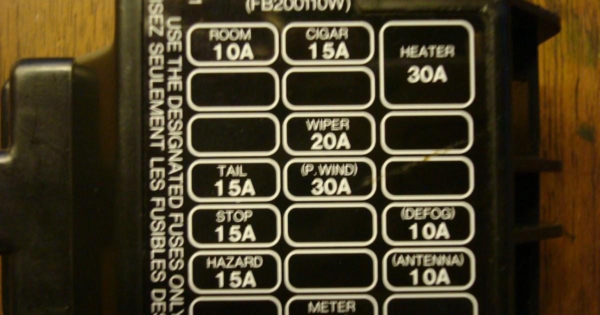 27 Miata Fuse Box Diagram