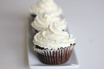 close-up photo of a chocolate cupcake with frosting