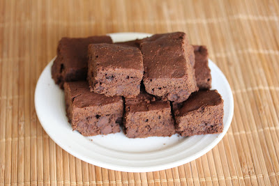 photo of a plate of brownies