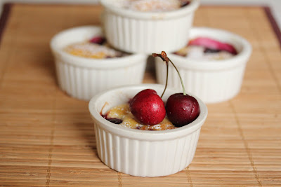 close-up photo of a Cherry Clafoutis
