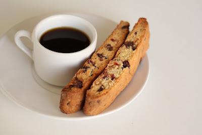Cranberry chocolate chip biscotti