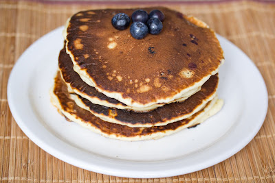 Giant blueberry pancakes