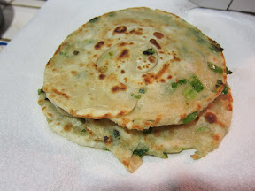 photo of cooked scallion pancake
