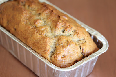 photo of a loaf of banana nut bread