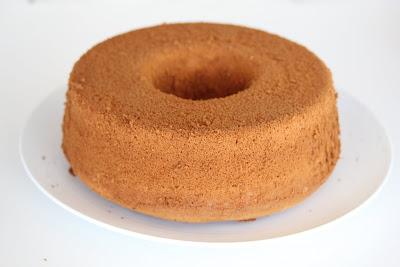 photo of a whole chiffon cake