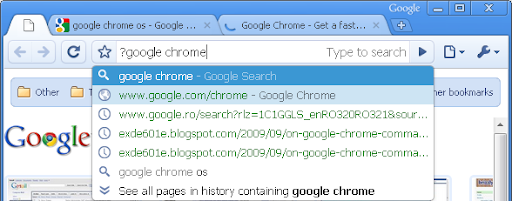 Google Chrome middle-click in the omnibox