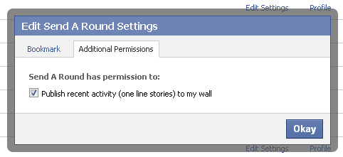 Facebook Edit additional permissions