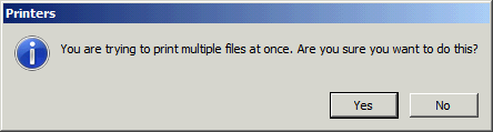 Print multiple files confirmation