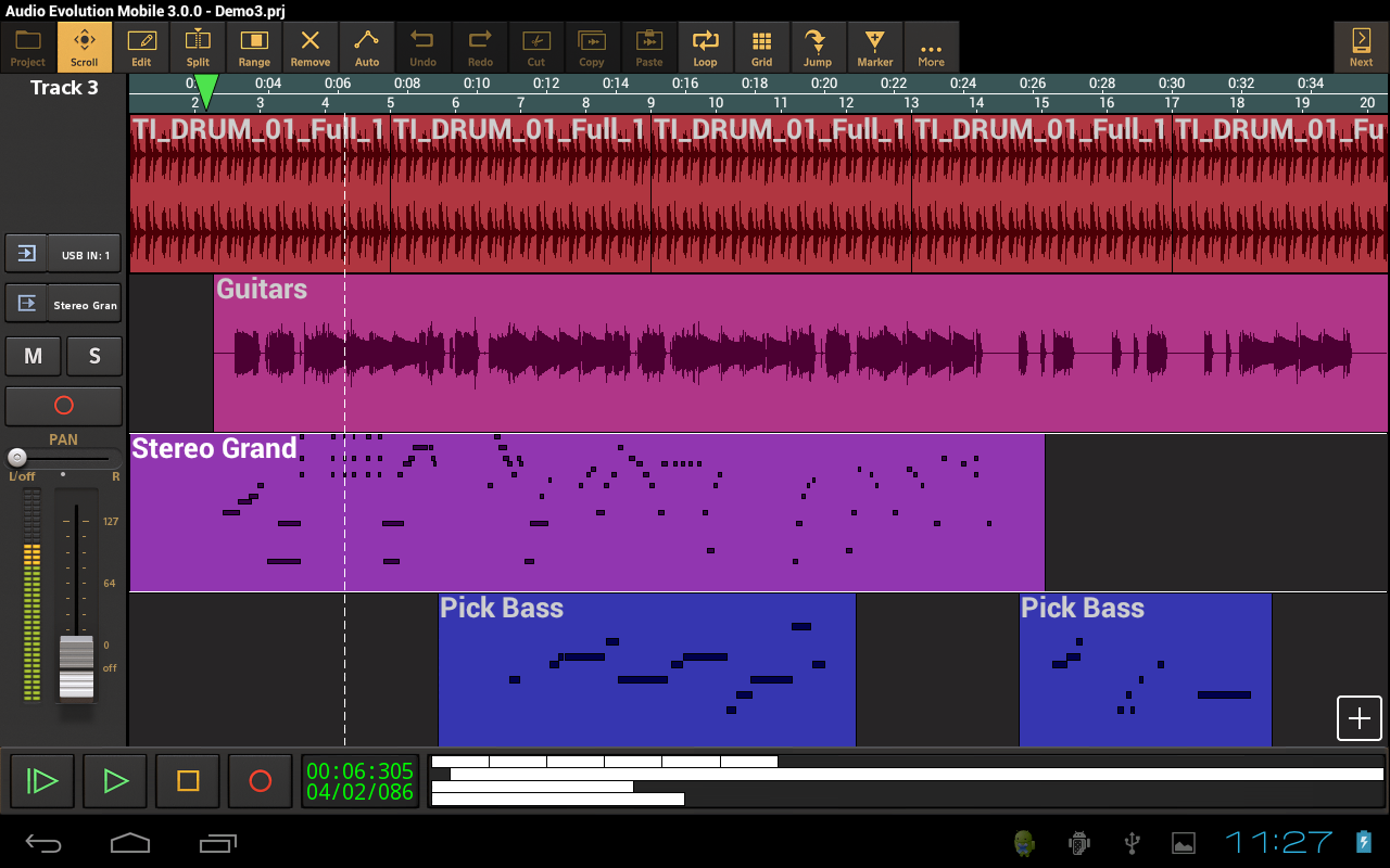 Audio Evolution Mobile DAW - screenshot