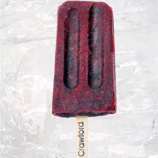 Pinot Noir Infused Blackberry Ice Pops.