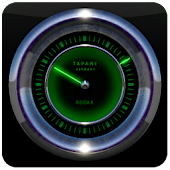 RADAR LASER GHOST CLOCK WIDGET