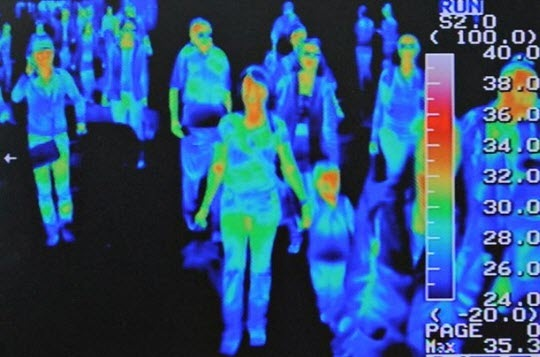 A Thermal Imaging Swine Flu H1N1