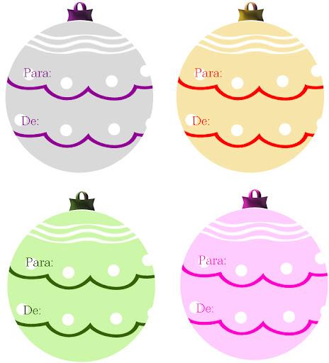 etiquetas para decorar regalos de navidad