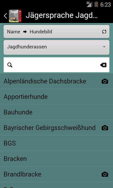 Jägersprache Jagdhunde LIGHT- screenshot