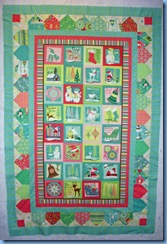 0709 Christmas Panel Quilt