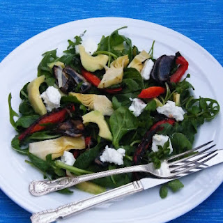 Artichoke. Red Pepper & Goats Cheese Salad