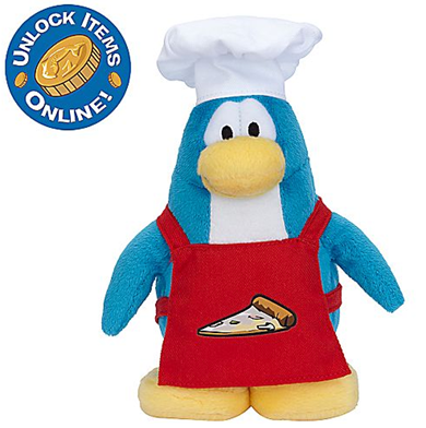 Pizza Chef Penguin Plush Toy