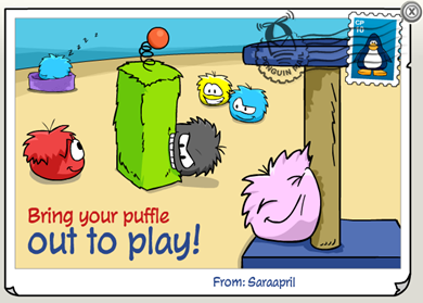 Happy Puffles Postcard