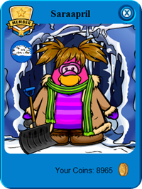 Official Club Penguin Flag on Saraapril's Players card :)