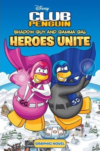 Disney Club Penguin Shadow Guy and Gamma Gal: Heroes Unite :)