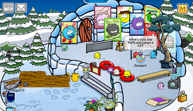 Saraapril's Igloo Puffle Party 2010 :)