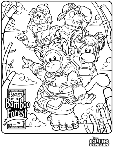 Bamboo Forest Coloring Page :)