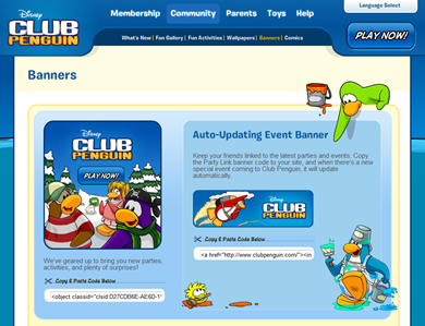 Club Penguin Event Banners :)