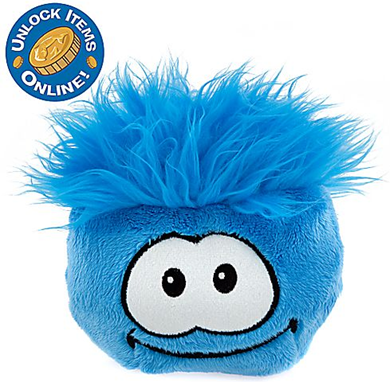 Club Penguin 6'' Blue Pet Puffle :)
