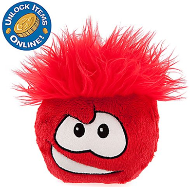 Club Penguin 6'' Red Pet Puffle :)