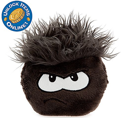 Club Penguin 6'' Black Pet Puffle :)