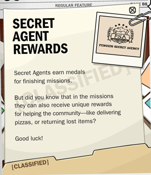 Secret Agent Rewards :)