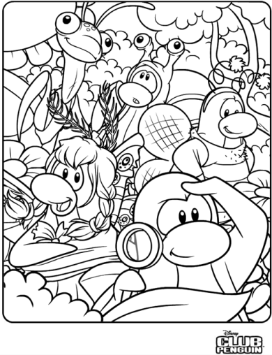Printable Club Penguin Coloring Pages | ColoringMe.com | 508x390