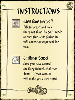 Instructions to Card-Jitsu Fire